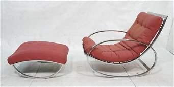 Milo Baughman Thayer Coggin Rocking Chair and Ott