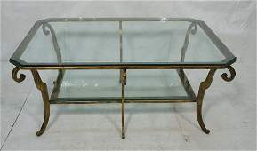 Contemporary Glass Top Two Tier Coffee Table Gil