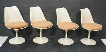 Set 4 Knoll Eero Saarinen Tulip Dining Chairs.