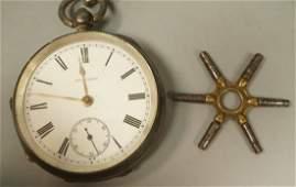 Large Sterling WALTHAM Mens Pocket Watch. Hallmar