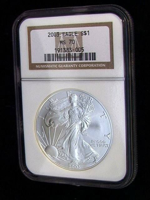 2018: 2003 American Silver Eagle Dollar Coin NGC MS 70