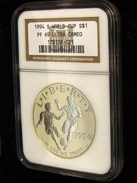 2041: 1994-S World Cup Silver Dollar PF 69 ULTRA CAMEO