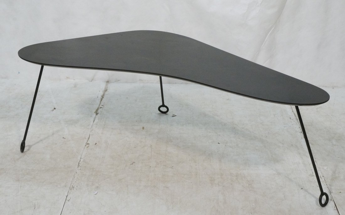 Shaped iron coffee table jean royere style boomerang shaped iron coffee table jean royere style geotapseo Choice Image