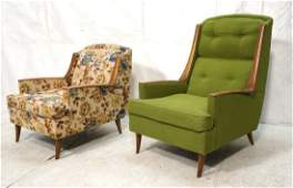Set 2 Modernist Lounge Chairs. Adrian Pearsall st
