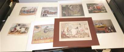 10 pc 19th & Early 20th Century Engravings. Hand