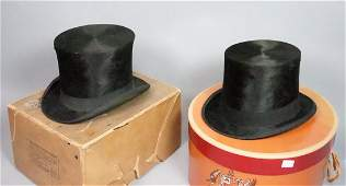 Two Beaver Mens Top Hats 1 SATCHELL  Son Hatt