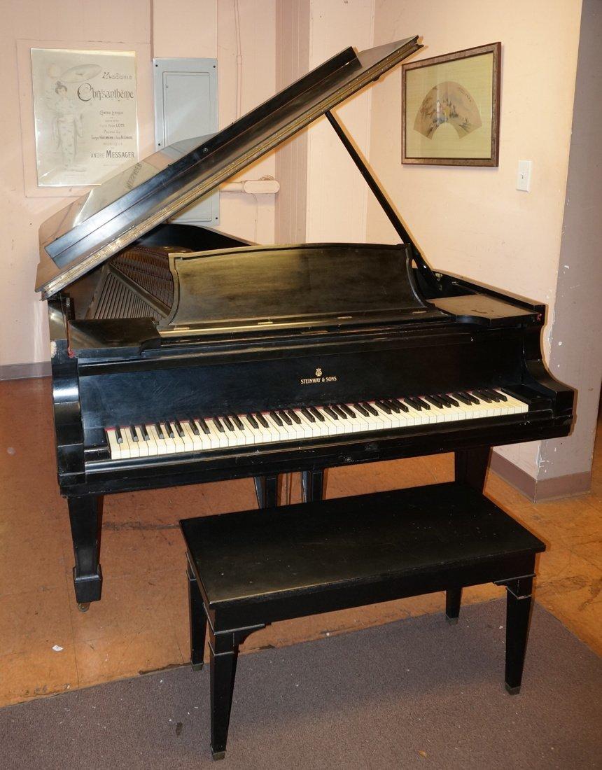 1928 STEINWAY Model D Grand Piano. Ebonized.