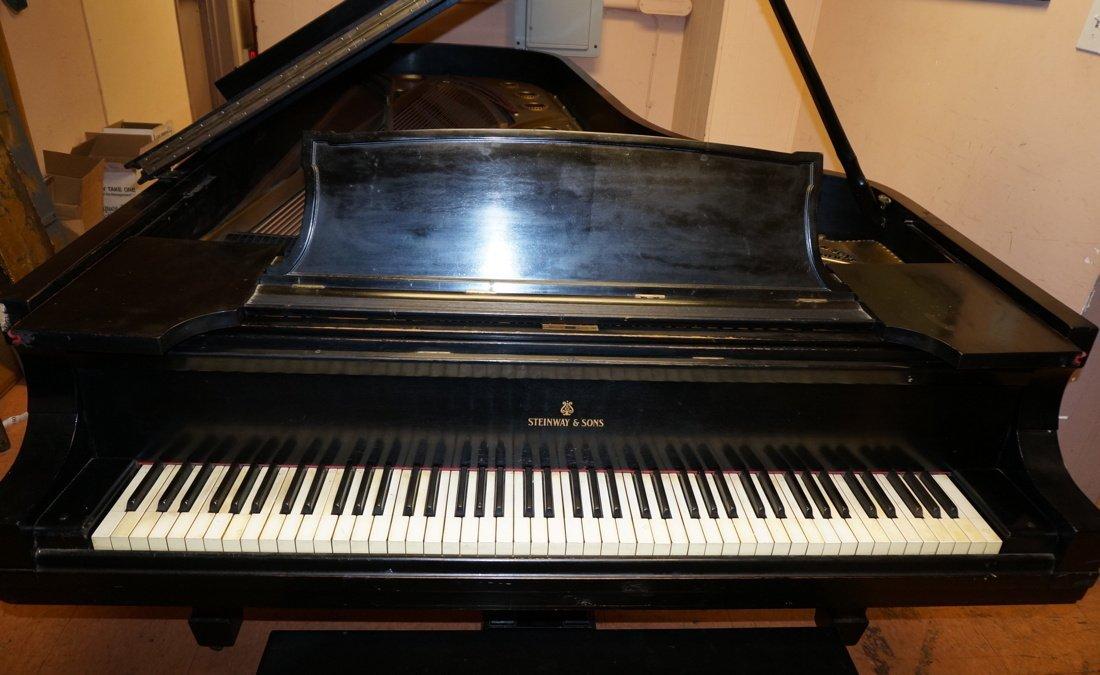 1928 STEINWAY Model D Grand Piano. Ebonized. - 2
