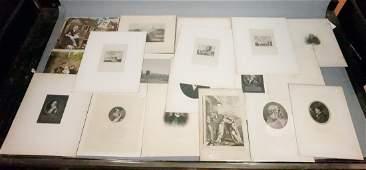 Lot 18 Antique 19th & 20th c Engravings. landscap