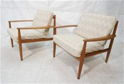 Pr GRETE JALK for France  Sons Lounge Chairs Mo