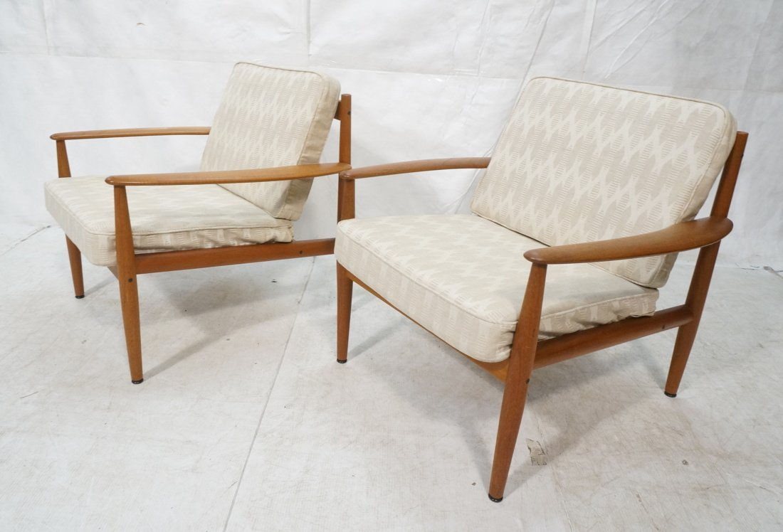 Pr GRETE JALK for France & Sons Lounge Chairs. Mo
