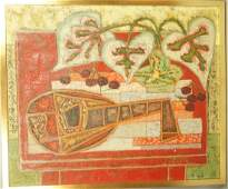 GABRIEL ZENDEL Oil on Canvas Painting Mandolin