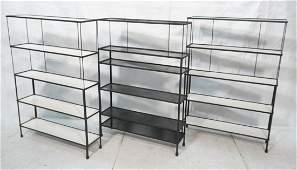 Set 3 Frederick WEINBERG Shelf Display Units. Thi