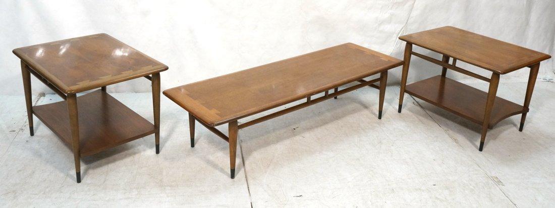 LANE American Modern 3pc Table Set. Coffee & 2 Si