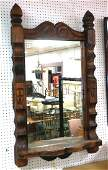 WITCO Carved Wood Frame Wall Mirror Lower shelf