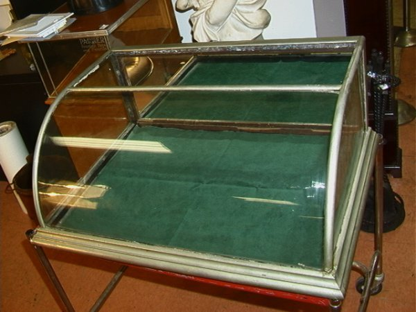 5: Curved Glass Countertop Showcase Display ANTIQUE. Me