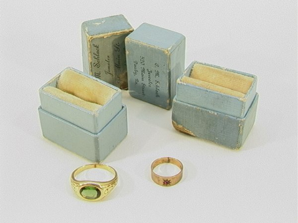 15: 2 pc VICTORIAN GOLD Childs Ring Rings. One 10K Gold