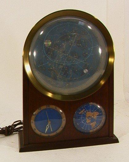 503: EDMUND SCIENTIFIC Lighted CELESTIAL CLOCK.  Licens