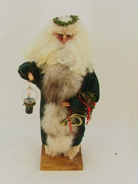 701: Gail Friday Lamplighter Santa figure  1994 signed