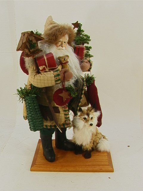 702: Lynn Haney Santa figure  Christmas in Fox Hollow