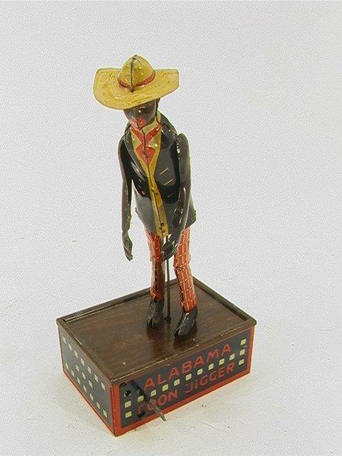 716: Strauss TOMBO Tin Alabama Coon Jigger dancing toy
