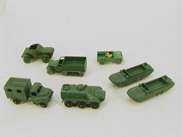 719: Benbros Lesney Matchbox Army lot  7 pieces Lesney