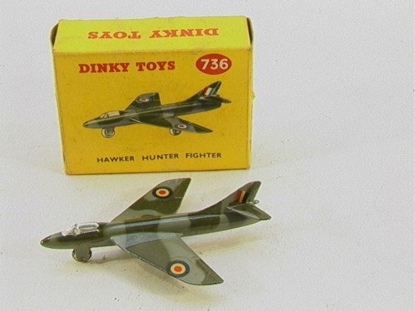 720: Dinky 736 Hawker Hunter Fighter Airplane MIB    Di