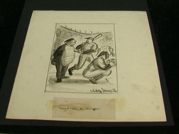 772: Whitney Darrow Jr. Cartoon Baseball Drawing for Ne