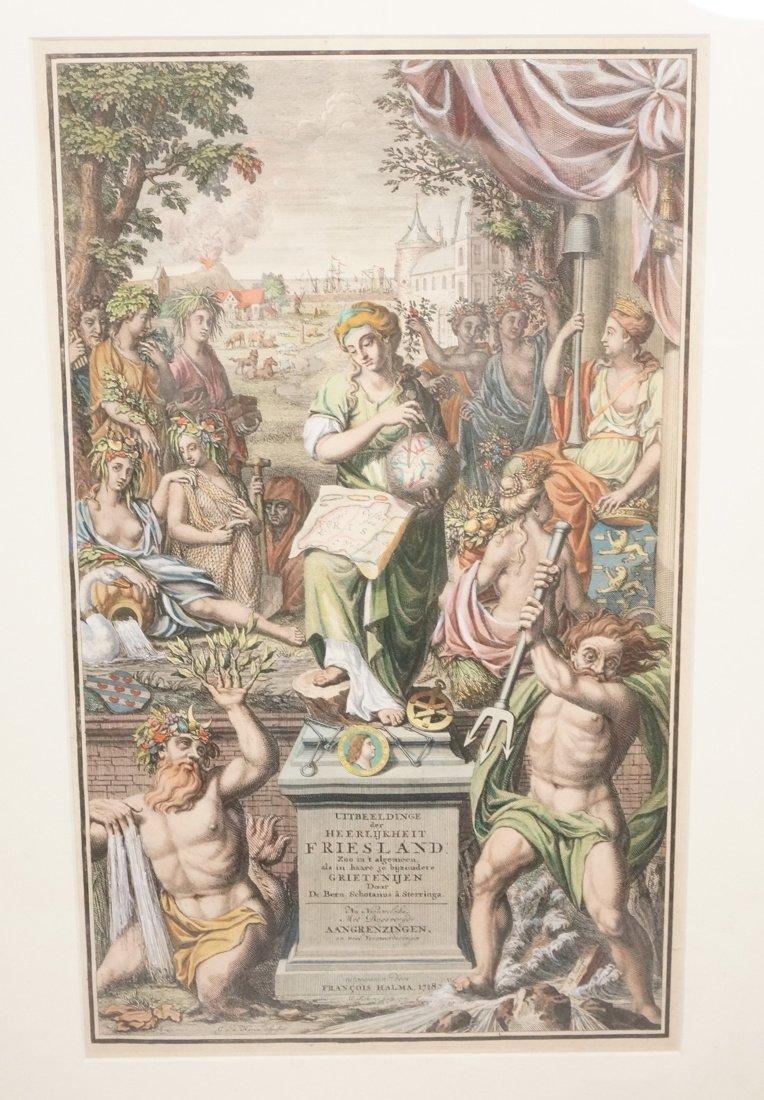 Hand colored engraving GODS Joh. Hilarides Inveni