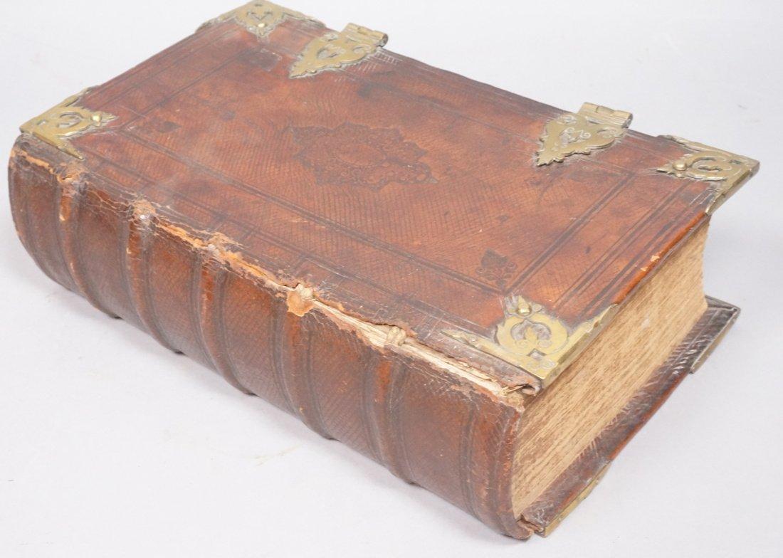 1719 Rotterdam Bible  BIBLIA . leather bound with
