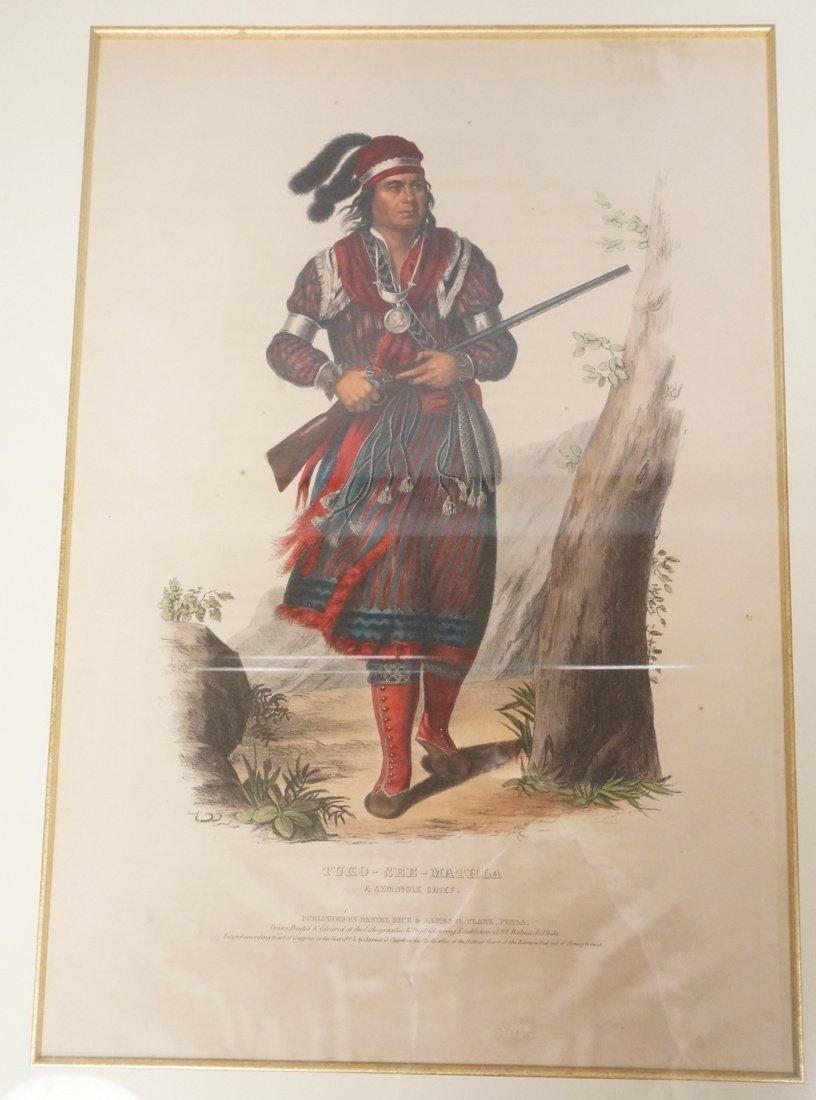 TUKO-SEE-MATHLA Hand Colored engraving Seminole C