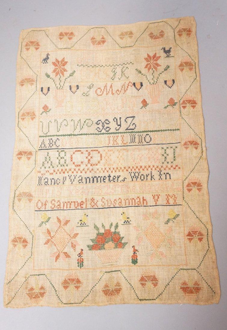 1825 Sampler - Nancy Vanmeter. 15 year. Unframed