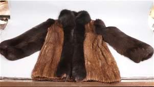 Ladies Short Mink Car Coat Long hair fur sleeve