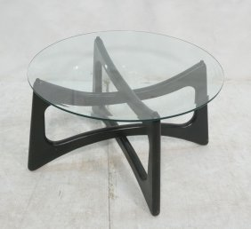 Adrian Pearsall Style Black Base Coffee Table. Ro