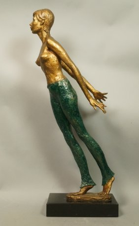 Glickman 1980 Semi Nude Female Figural Sculpture.