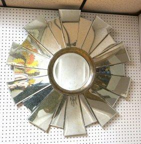 Contemporary Decorator Sunburst Mirror. Round Mir