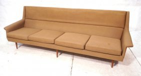 Thayer Coggin Milo Baughman Sofa Couch. Tapered