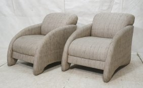 Pr Moderne Stylish Lounge Chair. Arched Fabric Ar