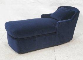 Blue Velvet Chaise Lounge. Mason Art. Modernist.