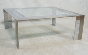 Pierre Cardin Style Coffee Cocktail Table. Satin
