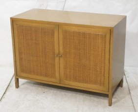Paul Mccobb Two Door Cabinet. Woven Fronts. Mccob