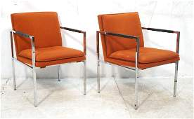 PR Milo Baughman style Thin Chrome Lounge Chairs.