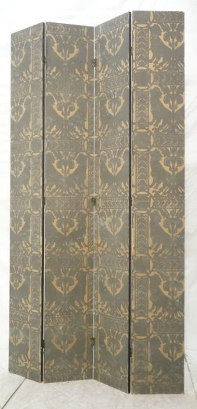 4 Panel Folding Screen Room Divider. Paper Panels