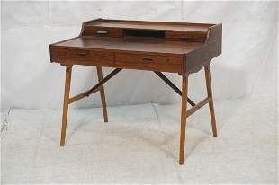 Arne Wahl Iversen Rosewood Desk. Danish Modern R