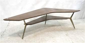 American Modern Boomerang Coffee Table. Lower she