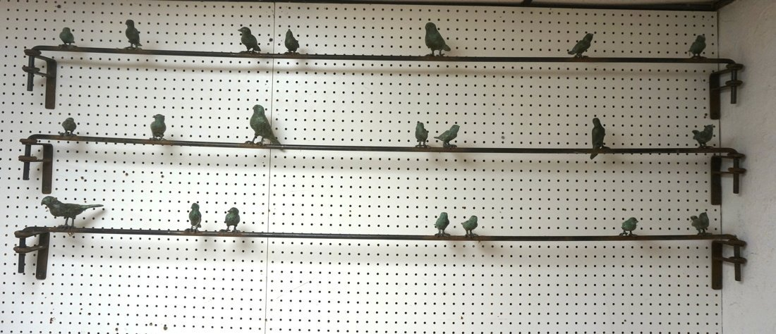 3pc ILANA GOOR Attribution Bird Wall Sculpture. B