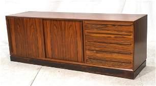 Danish Rosewood Credenza Sideboard. H.P. HANSEN.