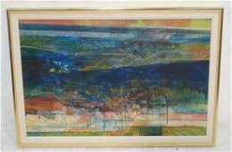 Signed VINCENT CEGLIA Acrylic  Painting Landscap
