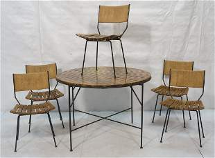 ARTHUR UMANOFF Dining Table & 5 Chairs. Hairpin i
