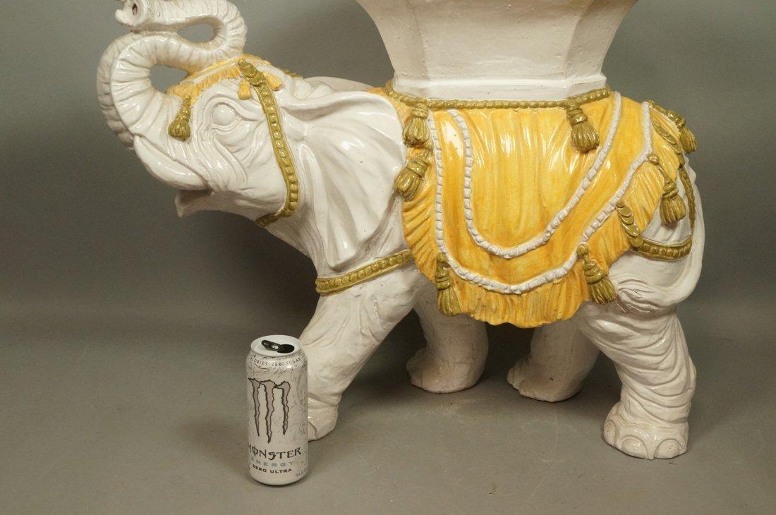 Large Ceramic Elephant Side Table.  Italian. Heav - 3